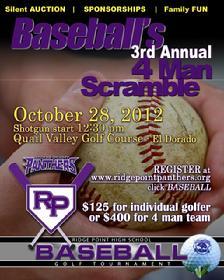 Baseball promo poster