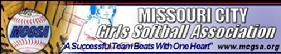 Missouri City Girls Softball Association Banner