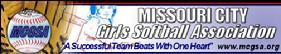 Missouri City Girls Softball Association Banner