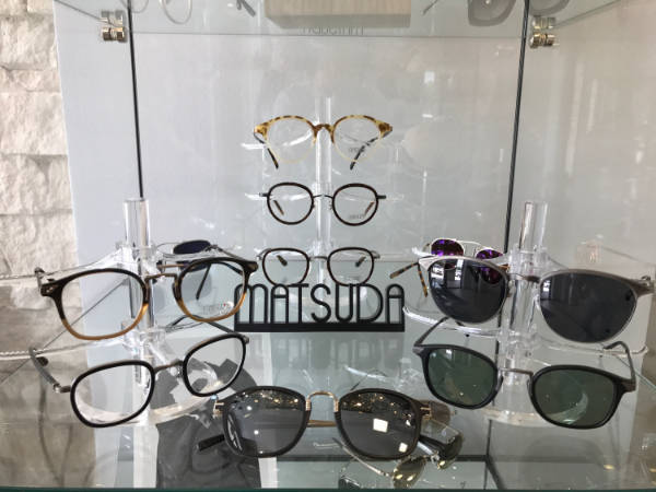 Glasses on display at a Optometrist Office